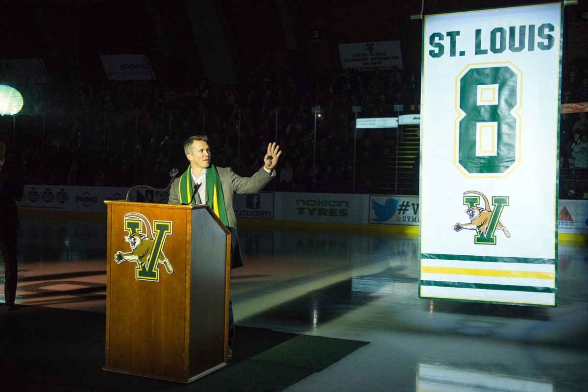 UVM Retires Martin St. Louis' Number