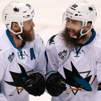Joe Thornton And Brent Burns With NHL Photo Of The Year